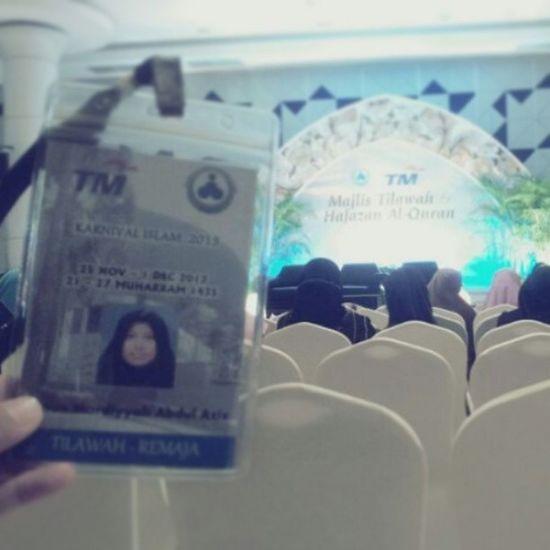 Now, Sementara menunggu Ahli-II Forum tibe.. :) Alhamdulillah diatas kelancaran urusan kami disini... huu~ :D Karnival Islam Bakit Majlis Tilawah Alquran pahang forum TM pullman hall