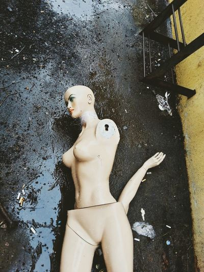 Low Angle View Of Nude Mannequin
