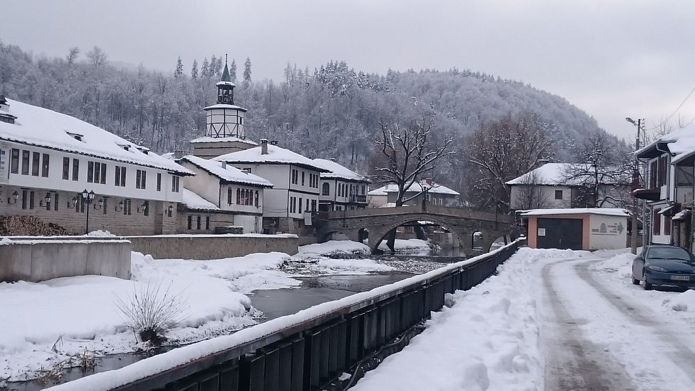 Snow Cold Temperature Winter Snowing Environment Outdoors No People Day Architecture City Bulgaria Tryavna River Bridge Tower Art Is Everywhere