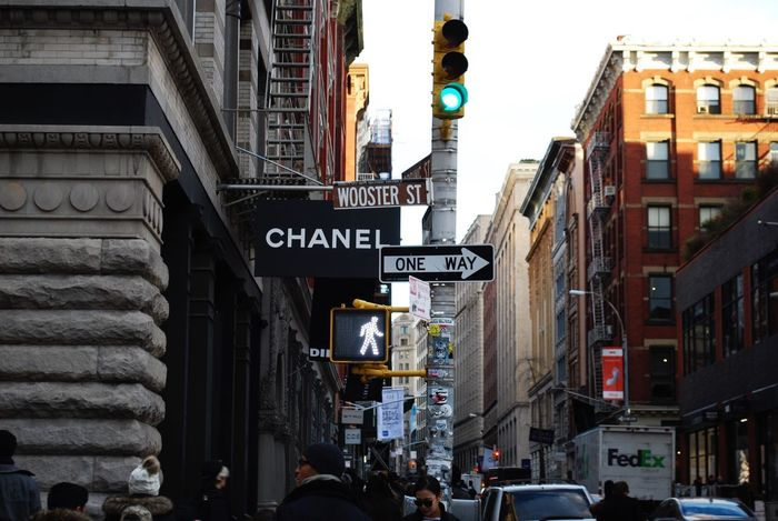 Soho New York Chanel Architecture Building Exterior City Built Structure Street City Life City Street