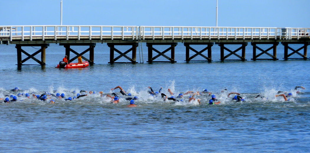 Ironman Busselton Jetty Day Outdoors Excercise Swimming Running Western Australia