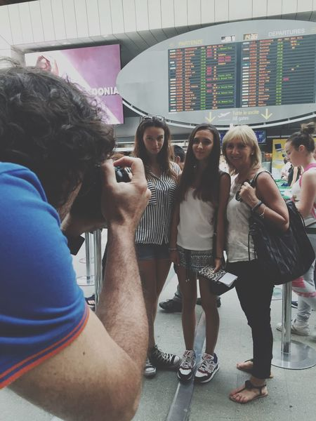 Taking photos at the Airport Taking Photos Check This Out Girls Family Leaving Holiday