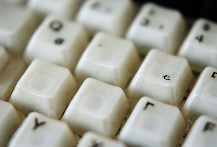 Abundance Arrangement Backgrounds Battered Cod Close-up Computer Keyboard Detail Focus On Foreground Full Frame Gamer Keyboard Heavy Use No People Repetition Selective Focus Still Life W E A D