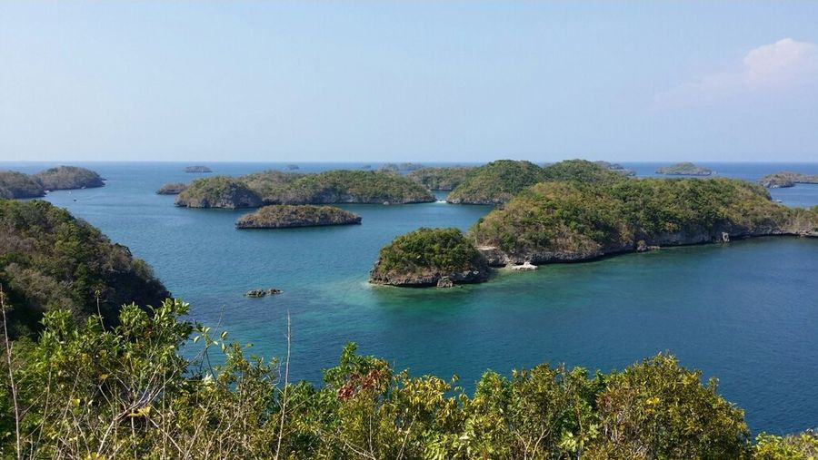 over looking view of tge islands at Nature