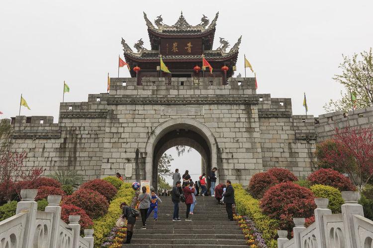 Xijiang, China - March 25, 2018: Panoramic view of Qingyan ancient town in Guizhou, China Batik Chinese People Dali Yunnan Guizhou China Guiyang Maotai Miao Miao Nationality Village Xijiang Yunnan