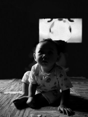 Monochrome Photography Baby Babies Only Indoors  Childhood People Babyhood One Person Full Length Cute Day