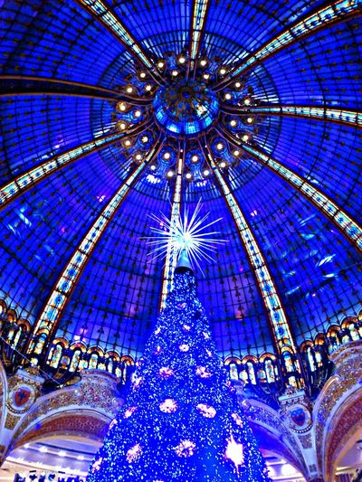 Paris Coupole Galeries Lafayette Haussmann because Christmas is coming soon...
