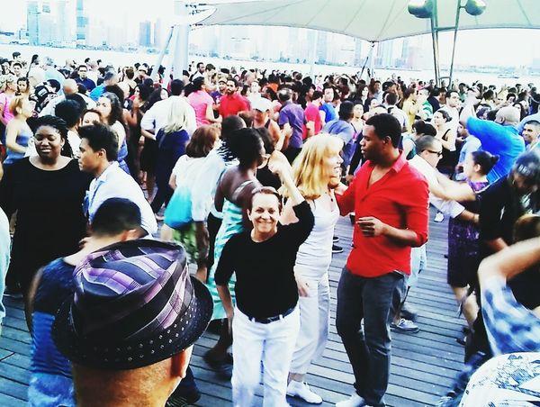 Friends Hanging Out Enjoying Life Hi! Dancing