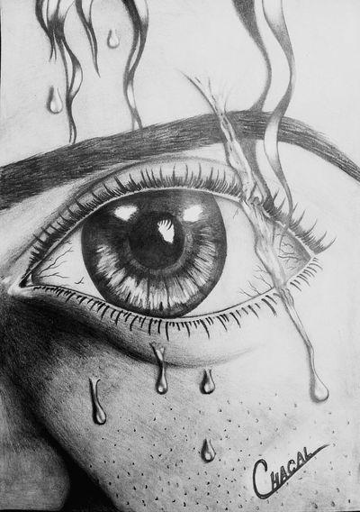 Desenho de olho realista Lapis E Borracha