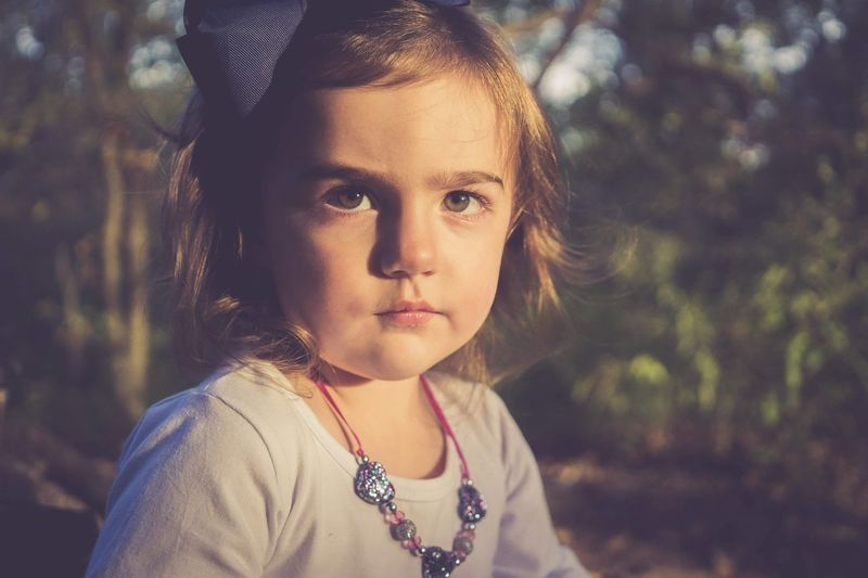 Portrait Child Childhood Girls Beauty Looking At Camera Headshot Human Face Females Forest
