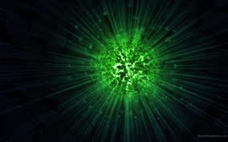 Backgrounds Illuminated Full Frame Close-up Studio Shot Laser Night Glowing Green Color Black Background Vibrant Color Bright Tranquility