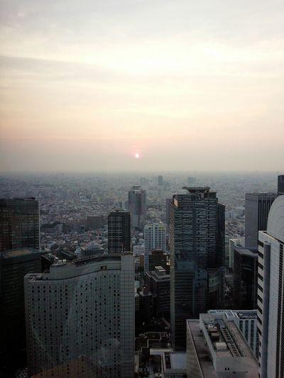Aerial Shot Sunset Sunday Afternoon