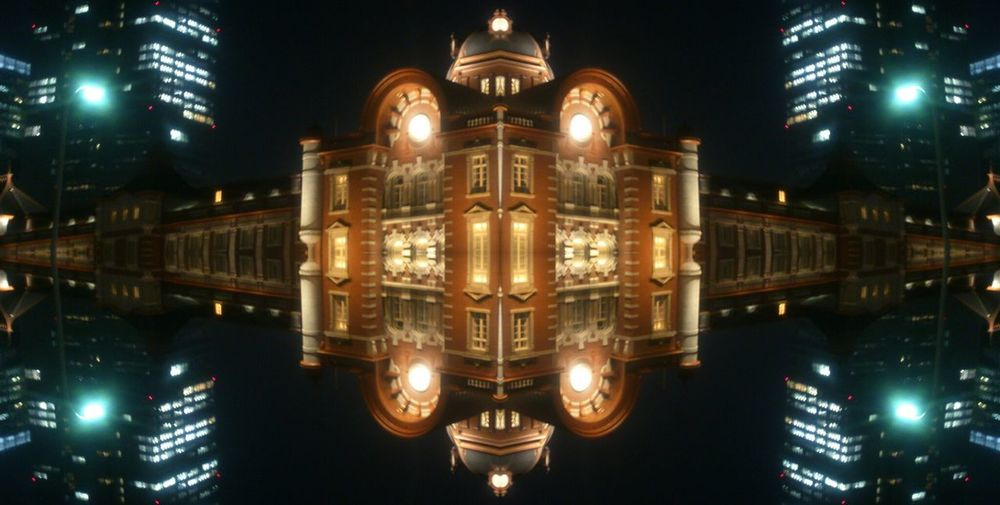 Night View Tokyo Station Mirror Edit Fantasy Edits
