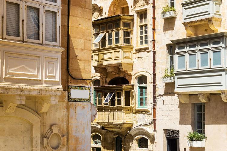 Full frame shot of old building in city