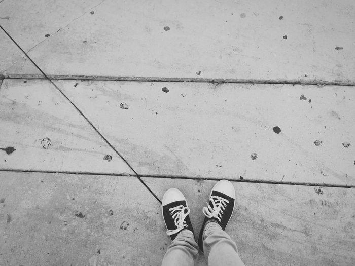 Class Ap Art Light And Shadow Blackandwhite Gum Floor Gum Shoes Lines Dirty Converse