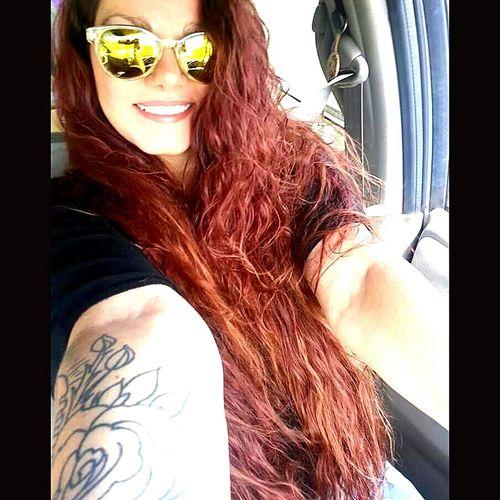 Country Girl Tennessee Dog Trainer Long Hair Cali Girl Tattoos EyeemSelfie Sunglasses Redhead EyeEmTattoo