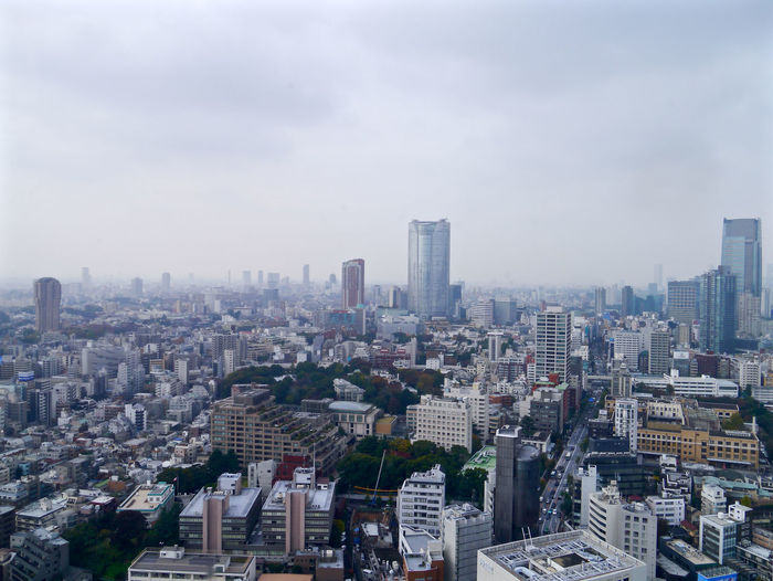 Tokyo Story 6 / Tokyo town page #0 , View from TOKYO TOWER Nov 18 : Photos(iMac) edit. HASYMO Tokyo town pages image Video >> https://youtu.be/FiNwj0xxjak watch video PC/Mac recommend Aerial View Architecture Built Structure Cityscapes Cloudy Sky Landscape Office Building Skyscraper Tall - High Tokyo Tower View From The Window... 東京タワー 港区