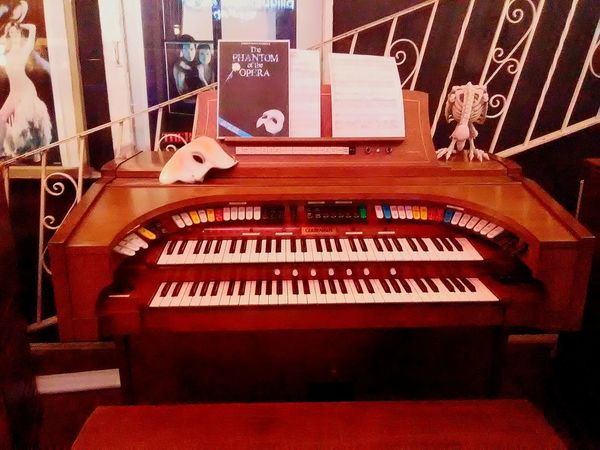 phantom of the Opera. Old Organ Antique Vintage Piano Indoors  Arts Culture And Entertainment No People Architecture Day