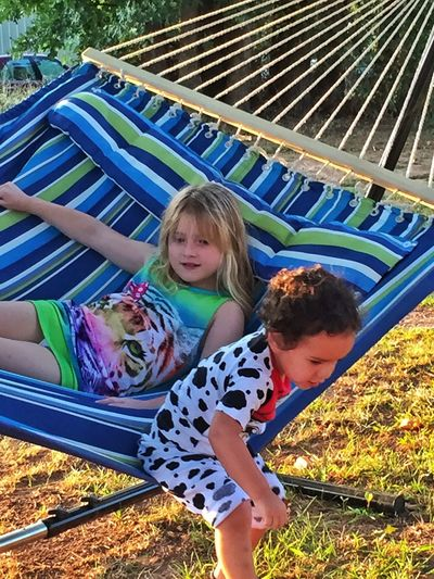 Summer Views Hanging Out In Their Jammies Children Photography Siblings On The Farm On The Hammock Having Fun On The Hammock Summer2015 Sibling Love Brothersisterlove