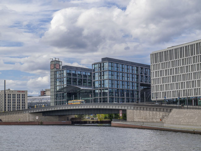 A boattrip through the inner City of Berlin. Architecture Berlin Built Structure Cloud Hauptbahnhof Berlin Train Station Water Waterfront