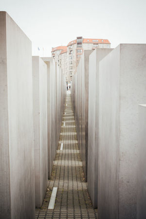 Architecture Berlin Blocks Built Structure City Concrete Corridor Day Diminishing Perspective Empty Germany Holocaust Memorial Holocaust Memorial Berlin In A Row Long Memorial Narrow No People Repetition Vanishing Point Walkway