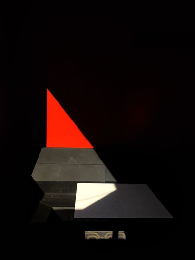 Triangle Shape Red No People BYOPaper! Wall - Building Feature Live For The Story Light And Shadow Shadowplay Vibrant Red Cubism