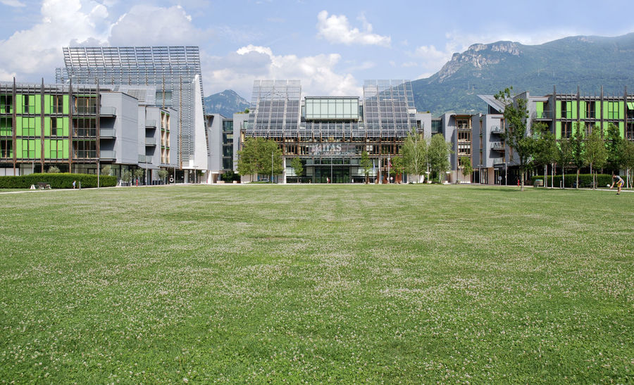 quartiere le Albere (Renzo Piano) Modern Architecture Renzo Piano Trentino Alto Adige Architecture Building Exterior Built Structure City Day Field Grass Green Color Growth Le Albere Trento Nature No People Outdoors Sky Tree