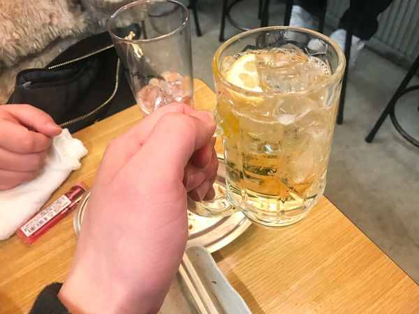 Alcohol Cheers Close-up Day Delicious Drink Drinking Glass Food And Drink Freshness Highball Holding Human Body Part Human Hand Izakaya Japanese Culture Lifestyles One Person Refreshment Taste Good Whisky And Soda