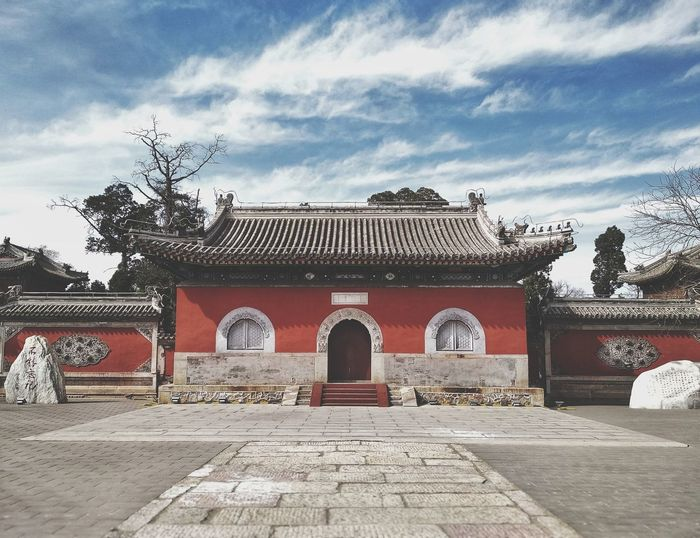 Temple Park Haidian District Beijing, China Peking University #photography #House #Skyline #wall #spring Temple Symmetry #Yuanmingyuan King - Royal Person City Sky Architecture Building Exterior Built Structure Cloud - Sky