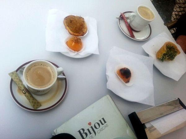 Portugese Food Koffee Kaffee Und Kuchen