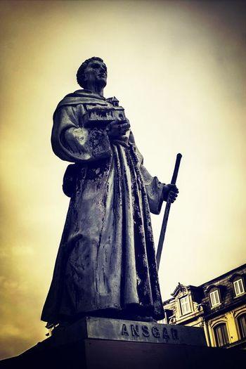 Ansgar Statue Saint Copenhagen