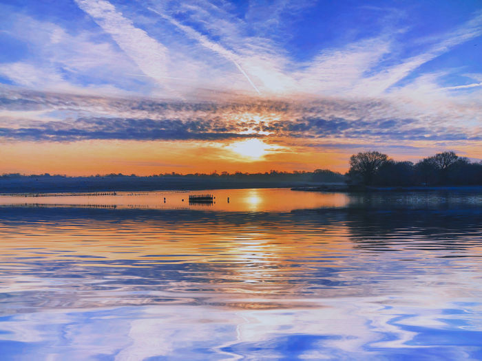 Morning sun and light at Hosehill Lakes Sky Water Cloud - Sky Reflection Scenics - Nature Beauty In Nature Tranquility Tranquil Scene Lake Sunset No People Nature Waterfront Idyllic Non-urban Scene Outdoors Tree Orange Color Plant