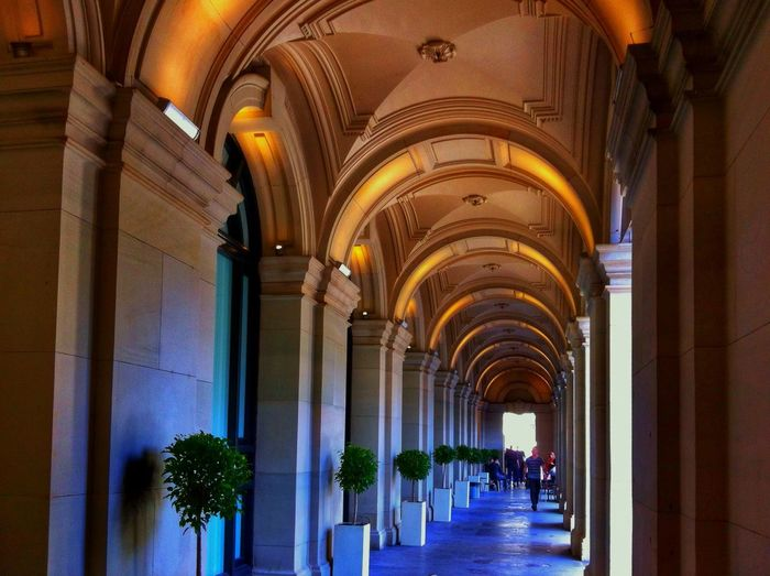 Melbourne GPO. Melbourne City Melbourne City Gpo Arches Color Blue Gold Arch