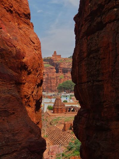 Travel Destinations History Architecture Nature Outdoors Day Sky Peacefulness Beauty In India Karnatakadiaries Travellust Rocks Carved In Stones Badami Beautifuldestinations Ancient Peace
