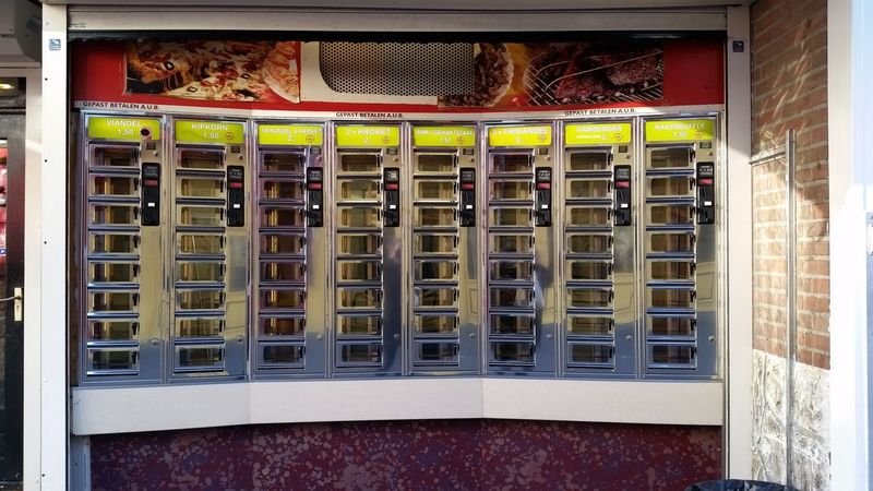 food in Eindhoven Automat Buy Dutch Eindhoven Food Netherlands Snacks Tourism