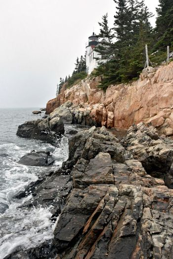 Acadia Acadia National Park, ME Bass Harbor Lighthouse Bass Harbor, Maine Lighthouse Architecture No People Power In Nature Rock Rock Formation Rocky Coastline Sea Solid Water Wave