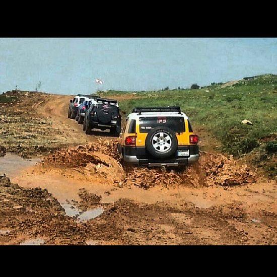 Me enjoying the mud bath.. Yellow FJ Cruiser Mudbath mud offroad
