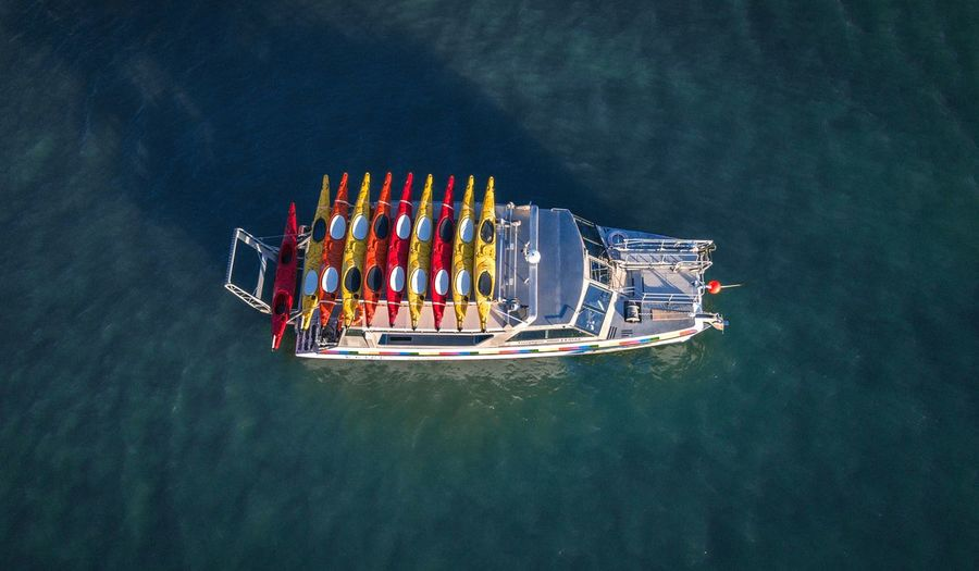 kayak boat from above Aerialphoto Tasman Dji Shotondji Drone  Beach EyeEm Best Shots Eyemphotography New Zealand Areal View Ocean Sunset EyeEm Selects Nautical Vessel Water Sea Aerial View High Angle View Group Of People Yacht Sailing Sailing Boat Yachting Ferry Sailboat Cruise Boat Deck Passenger Craft Boat Wake - Water