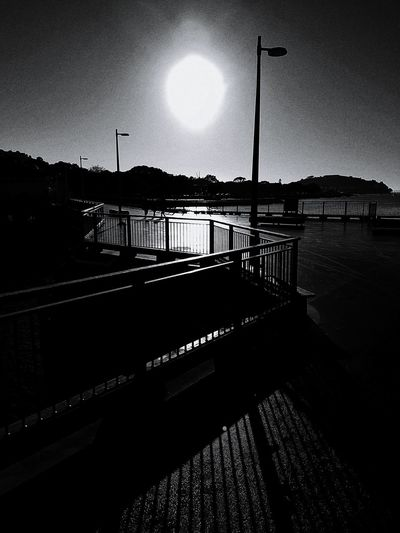 Early morning sun over Victoria Wharf. 2016 07 02 Blackandwhite Black And White B&w Light And Shadow Sunlight