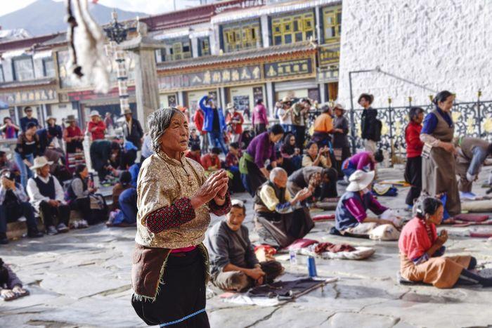 Lhasa, Tibet Jokhang Temple Believer Piouspeople
