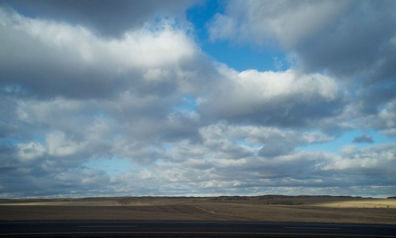 2-7-16 Atmosphere Atmospheric Mood Beauty In Nature Cloud Cloud - Sky Cloudy Distant Dusk Horizon Over Land Majestic MidWest No People North Dakota Outdoors Overcast Scenics Silhouette Sky Sunset Tranquil Scene Tranquility Western North Dakota