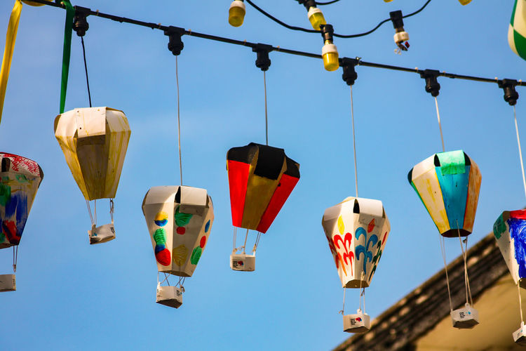Hanging Cultures Tradition Celebration Multi Colored No People Day Sky Outdoors The Week On EyeEm Street Lanterns Lanterns Penang Malaysia George Town, Penang, Malaysia Streets Of Penang Ccolorful Vibrant Colors Eyeem Philippines