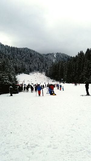 snow Mountains Large Group Of People People Cold Temperature Sky Day Outdoors Men Snow Nature Mobility In Mega Cities