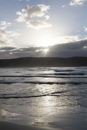 Australia Travel Beach Beauty In Nature Bright Cloud - Sky Day Idyllic Land Nature No People Outdoors Reflection Scenics - Nature Sea Sky Sun Sunbeam Sunlight Tranquil Scene Tranquility Travel Destinations Water