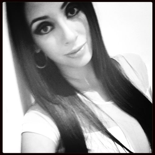 Hello World Selfie Black & White