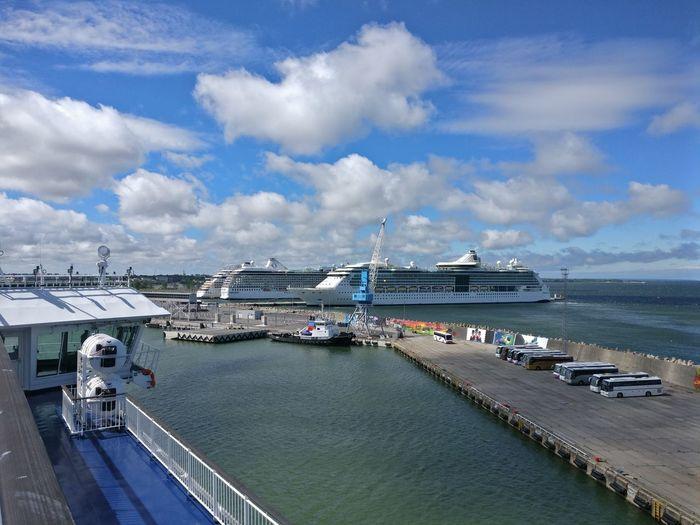 Cruise ships at shore