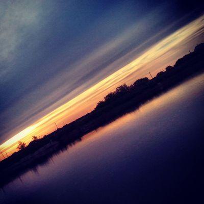Sky Sunset Clouds Water Rates Spring Evening весна небо Закат вода Ставок тучки