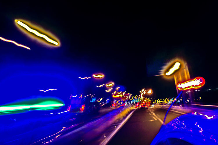 car running on freeway Abstract Freeway Glowing Highway Light Effect Lights Motion Neon Night Night Drive Night Lights Running Cars experimental HUAWEI Photo Award: After Dark