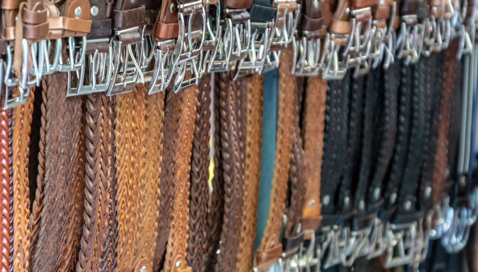 Leather Mallorca Market Sale Abundance Arrangement Balearic Islands Belt  Belts Business Choice Close-up Day Focus On Foreground For Sale Full Frame Girdle Hanging In A Row Large Group Of Objects Market Marketplace Music No People Order Retail  Sales Selective Focus Side By Side Variation