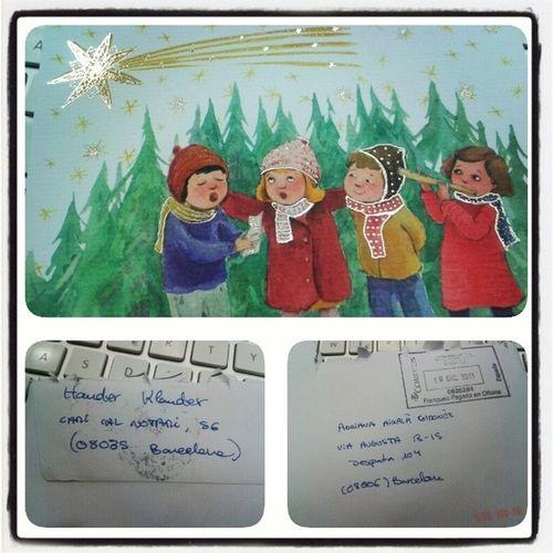 Saps que és Nadal quan en HanderKlander et fa arribar la seva postal XD Encarariem tedelatastepreguntandoxelcorreo Carlostienemiedo detalle bonNadal Christmas Xmas adaigi @fatu3 :*